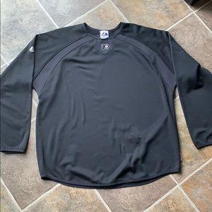 Majestic size xl flyers hockey fleece shirt